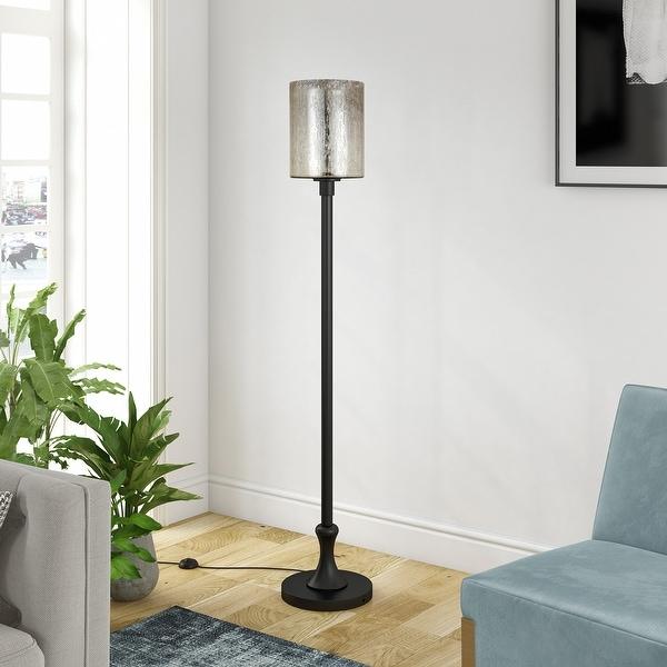 Neo Metal Floor Lamp with Mercury Glass Shade