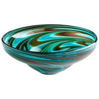 Cyan Design Woodstock Bowl Woodstock 13.5 Inch Diameter Glass Decorative Bowl - n/a
