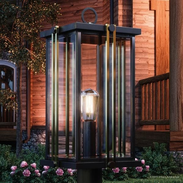 Shop Luxury Craftsman Outdoor Post Light 21 5 Quot H X 10 Quot W