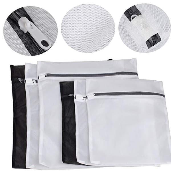 Wash Bag Bra Socks Lingerie Underwear Mesh Net Washing Machine Zipped Laundry