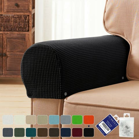 subrtex Stretch Armrest Cover Strip furniture Cover with Twist Pins