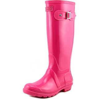 Seven7 British Girl Women Round Toe Synthetic Pink Rain Boot