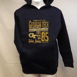 Georgia Tech Yellow Jackets Youth Size M Medium 10 12 Hoodie 50