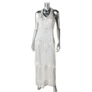 Sue Wong Womens Tulle Beaded Semi-Formal Dress - 0