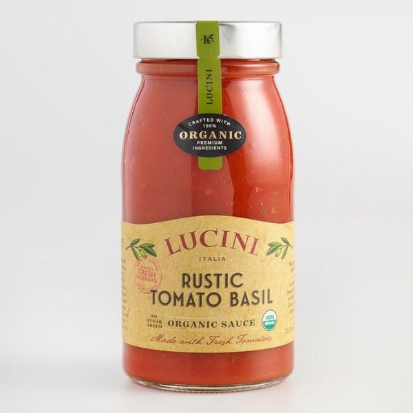 Lucini Italia Rustic Tomato Basil Tomato Sauce - Case of 6 - 25.5 Fl oz.