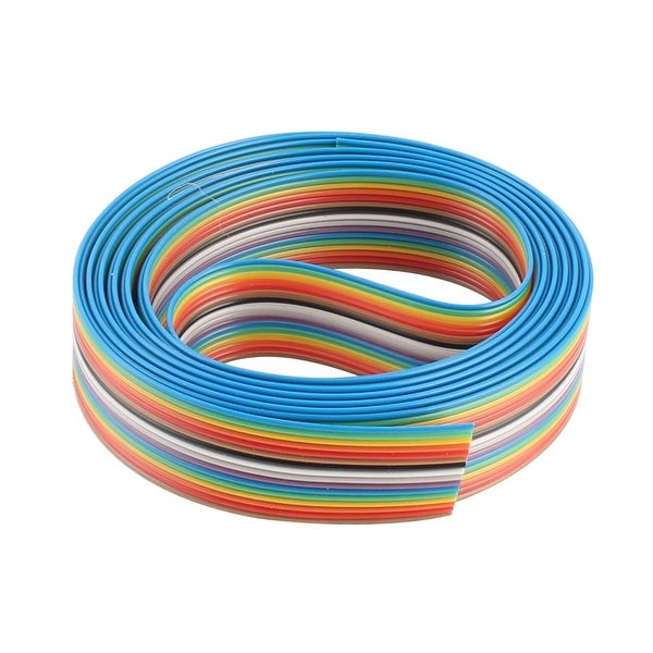 2.5M Long 2cm Width 16 Ways Flexible Flat IDC Ribbon Cable Wire Colorful