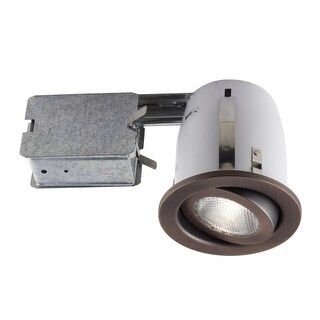 Bazz Lighting 500-151 RF PAR20 Series Single-Light 4-Inch Recessed Light Fixture for Interior Installations, Finished in Rust