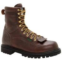 "Georgia Boot Men's G8341 Steel Toe 8"" Heritage Vibram Boot Tumbled Chocolate"