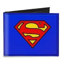Superman Blue Canvas Bi Fold Wallet One Size - One Size Fits most