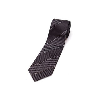 Versace Men Slim Silk Neck Tie CR8LSEB0703 0004 Black Grey