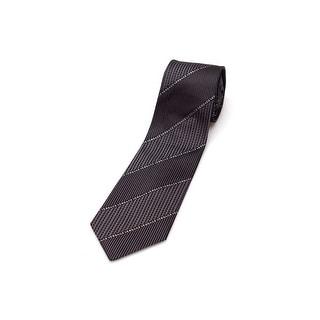 Versace Collection Men Slim Silk Neck Tie CR8LSEB0703 0004 Black Grey