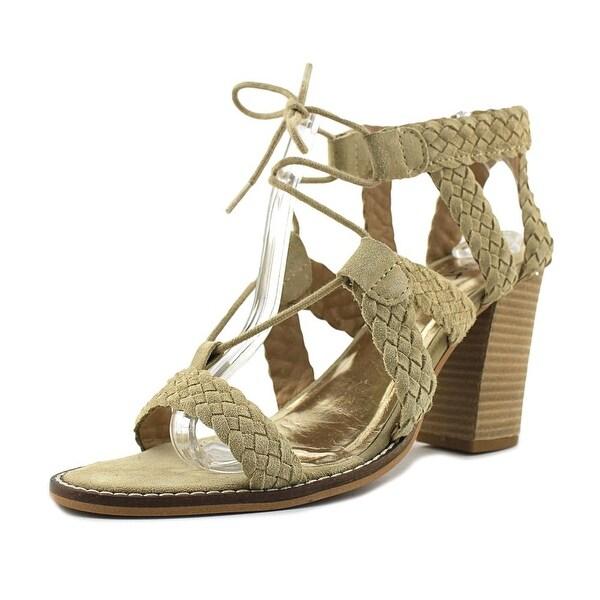 Diba True Tradin Up Women Open Toe Suede Tan Sandals