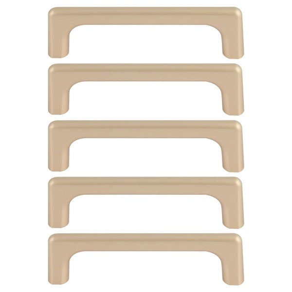 """Cabinet Handles Pull Zinc Alloy 3.8"""" Hole Center for Furniture Door Cabinet Cupboards Wardrobe 5pcs Gold Tone"""