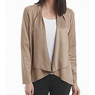 Karen Kane NEW Beige Women's Size Medium M Faux Suede Draped Jacket