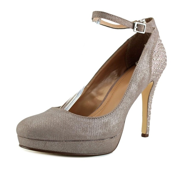 Style & Co Lylla Women Open Toe Synthetic Silver Platform Heel