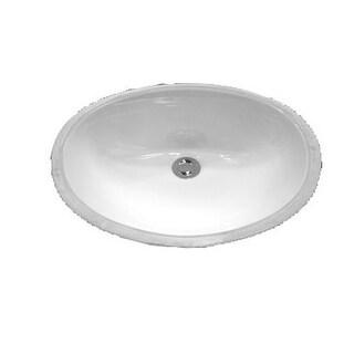 "ProFlo PF1512U 17"" Undermount Oval Bathroom Sink"