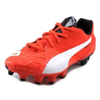Puma EvoSPEED 1.4 FG JR Soccer Cleats Youth Round Toe Synthetic Orange Cleats
