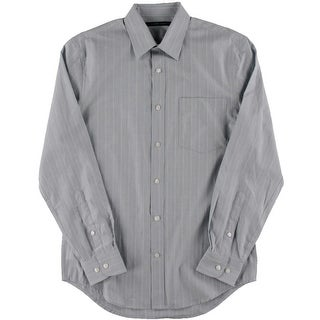 Perry Ellis Mens Pinstripe Long Sleeves Button-Down Shirt