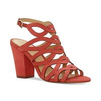 Vince Camuto Womens vc norla Leather Open Toe Casual Strappy Sandals - king crab