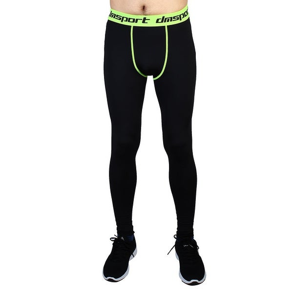 1e4ae149708e6 Men Sports Compression Tights Running Long Pants Fluorescence Green W28