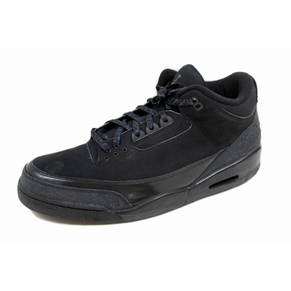 Nike Men's Air Jordan III 3 Retro Black/Dark Charcoal Black Cat 136064-002 Size 18
