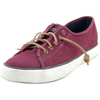 Sperry Top Sider Pier View Canvas Women Canvas Burgundy Fashion Sneakers