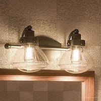 "Luxury Transitional Bathroom Vanity Light, 8""H x 17.75""W, with Rustic Style, Parisian Bronze Finish"