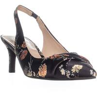 Franco Sarto Dianora Pointed Toe Twist Slingback Heels, Floral