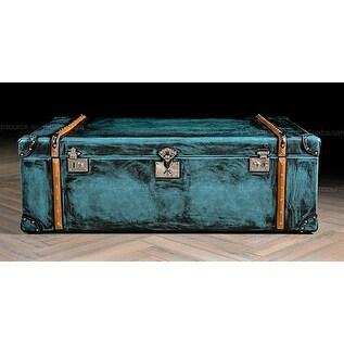 Vintage teal industrial steampunk trunk