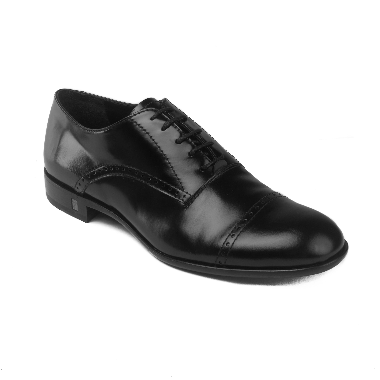 ac2edc3494 Versace Men's Leather Brogue Accent Lace-up Oxford Dress Shoes Black