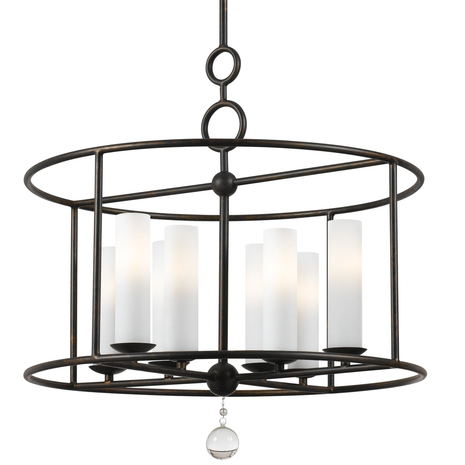 Cameron 8 Light Wrought Iron Chandelier 24 W X 24 75 H Overstock 7888857