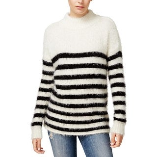 Sanctuary Womens Pullover Sweater Striped Mock Neck