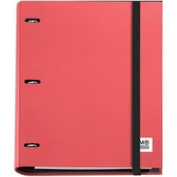 Red - 3-Ring Refillable Binder & 100 Sheets Of Paper