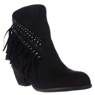 Not Rated Noora Studded Fringe Ankle Boots, Black