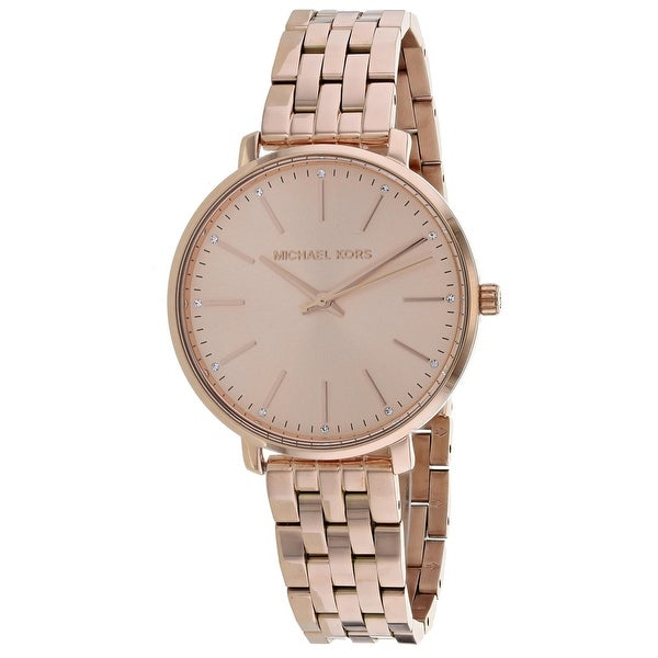 86627027f8cb Shop Michael Kors Women s Pyper Rose Gold Dial Watch - Free Shipping Today  - Overstock - 25735109