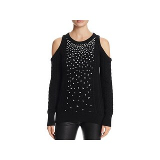 MICHAEL Michael Kors Womens Pullover Sweater Knit Crystal