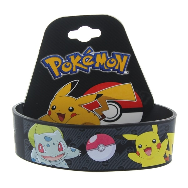 Pokemon Multi-Character Youth Silicone Wristband