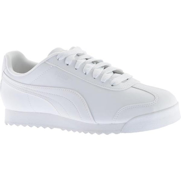 Shop PUMA Men s Roma Basic White Light Gray - Free Shipping Today ... 0d024af25