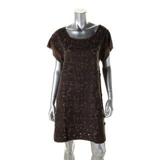 Catherine Malandrino Womens Silk Applique Party Dress - 4