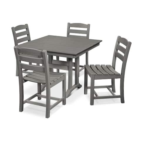 POLYWOOD La Casa Caf 5-Piece Farmhouse Side Chair Dining Set
