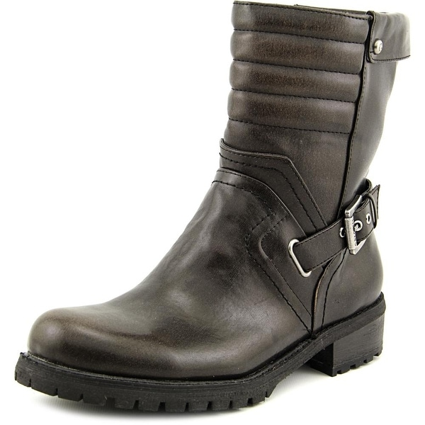 G By Guess Netty Women Round Toe Synthetic Black Mid Calf Boot