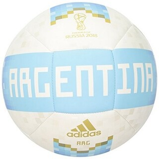Adidas Mens Olp 18 Ball Arg, White,Clblue,Magold, 5 - white,clblue,magold