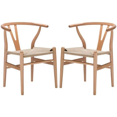 Poly and Bark Weave Chairs (Set of 2)