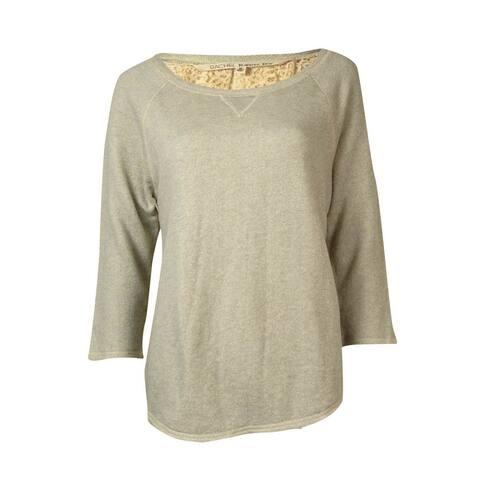 Rachel Roy Women's Lace Back Sweatshirt - Light Grey Heather - M