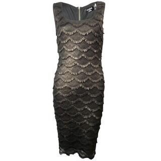 Guess LA Women's Maria Metallic Fringe Dress