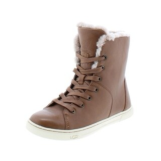 Ugg Australia Womens Croft Luxe Fashion Sneakers Leather Shearling Lined - 9 medium (b,m)