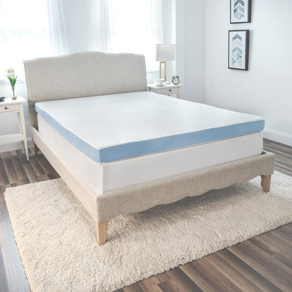 SensorPEDIC 4-Inch Supreme Gel Cooling Transcend Memory Foam Bed Topper - White. Opens flyout.