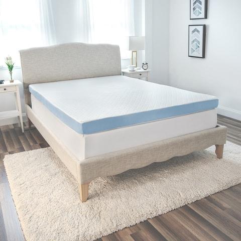 SensorPEDIC 4-Inch Supreme Gel Cooling Transcend Memory Foam Bed Topper - White