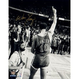 Walt Frazier Signed 16x20 Photo Walking Off the Court Pointing Up ()