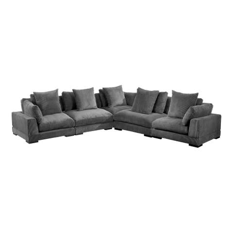 Aurelle Home Modern Timothy Modular Sectional - Large Classic L